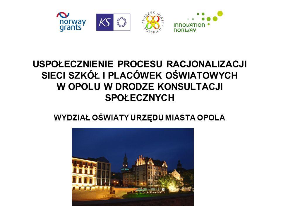 Zwięzły opis zgłaszanego rozwiązania (1) Proces racjonalizacji sieci szkół jako bardzo wrażliwy społecznie temat - przyczyna wielu konfliktów w całej Polsce, rozpoczął się od rzetelnej diagnozy stanu w 2011 r.