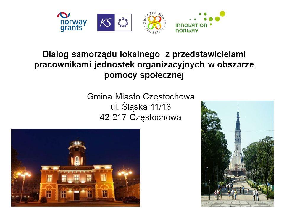 Dialog samorządu lokalnego z przedstawicielami pracownikami jednostek organizacyjnych w obszarze pomocy społecznej Gmina Miasto Częstochowa ul.