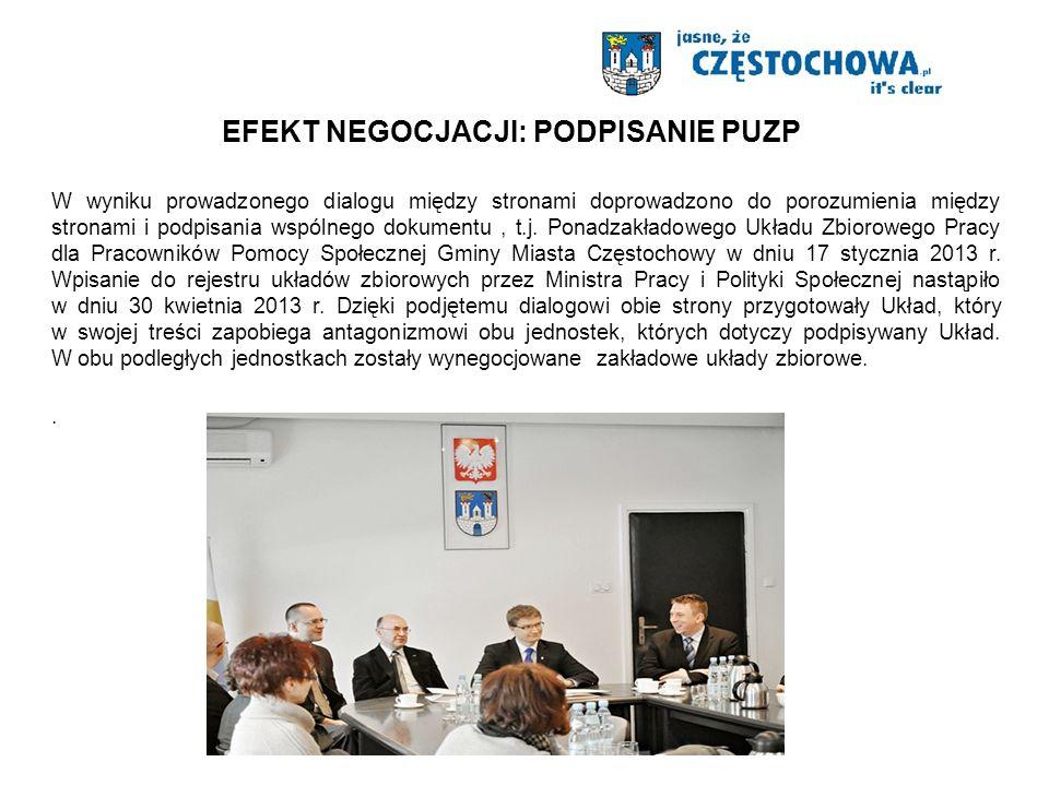 W wyniku prowadzonego dialogu między stronami doprowadzono do porozumienia między stronami i podpisania wspólnego dokumentu, t.j.