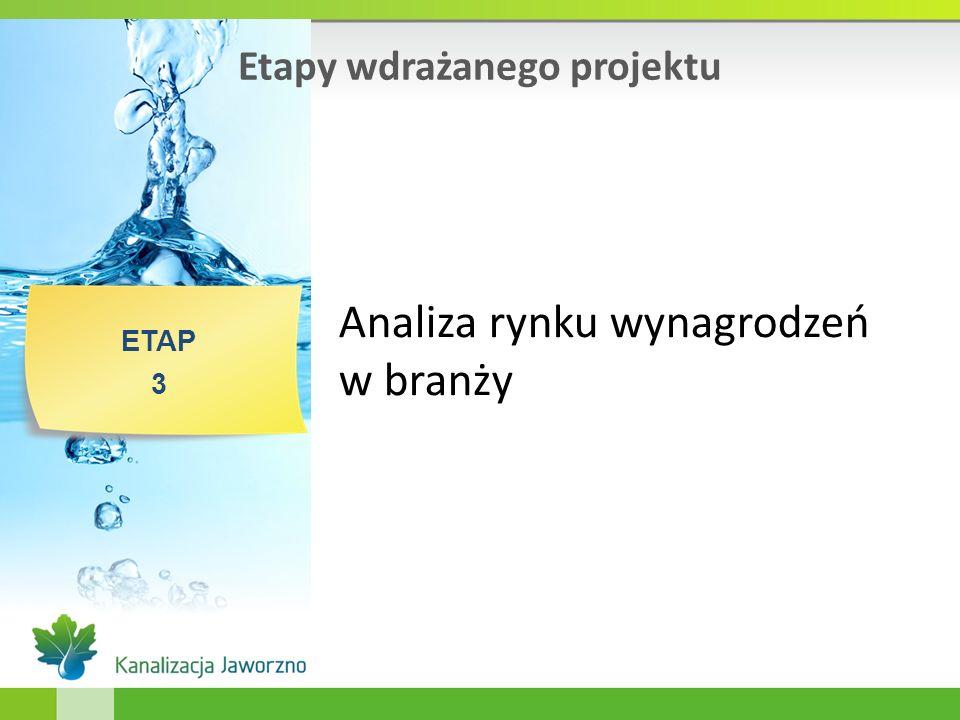 Etapy wdrażanego projektu ETAP 3 Analiza rynku wynagrodzeń w branży