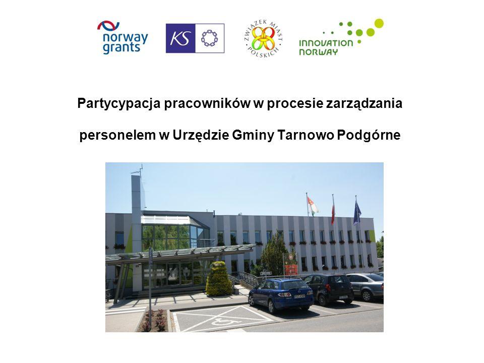 Partycypacja pracowników w procesie zarządzania personelem w Urzędzie Gminy Tarnowo Podgórne rozwiązania
