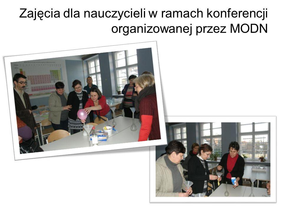 Zajęcia dla nauczycieli w ramach konferencji organizowanej przez MODN