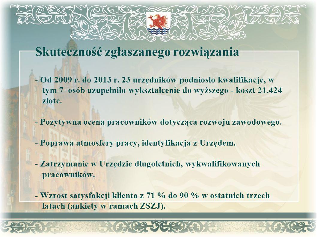Przejrzystość procesu wdrożenia rozwiązania - Publikacja zarządzeń w Biuletynie Informacji Publicznej Urzędu Miejskiego w Słupsku i w serwisie wewnętrznym DGA Quality.