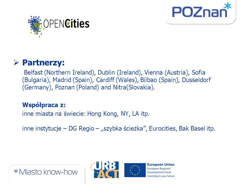 Partnerzy: Belfast (Northern Ireland), Dublin (Ireland), Vienna (Austria), Sofia (Bulgaria), Madrid (Spain), Cardiff (Wales), Bilbao (Spain), Dusseldorf (Germany), Poznan (Poland) and Nitra(Slovakia).