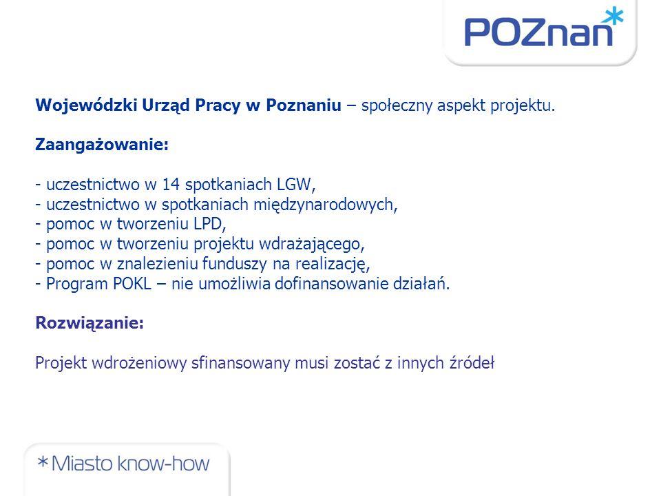 Wojewódzki Urząd Pracy w Poznaniu – społeczny aspekt projektu.