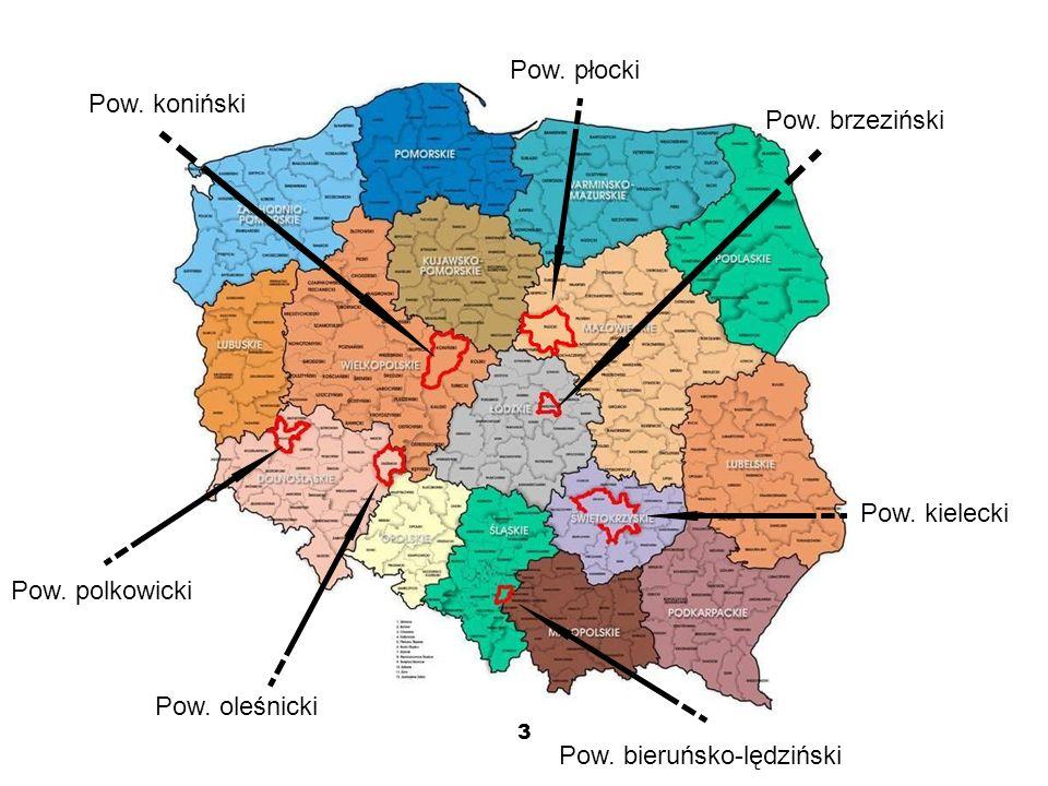 3 Pow. polkowicki Pow. oleśnicki Pow. bieruńsko-lędziński Pow.