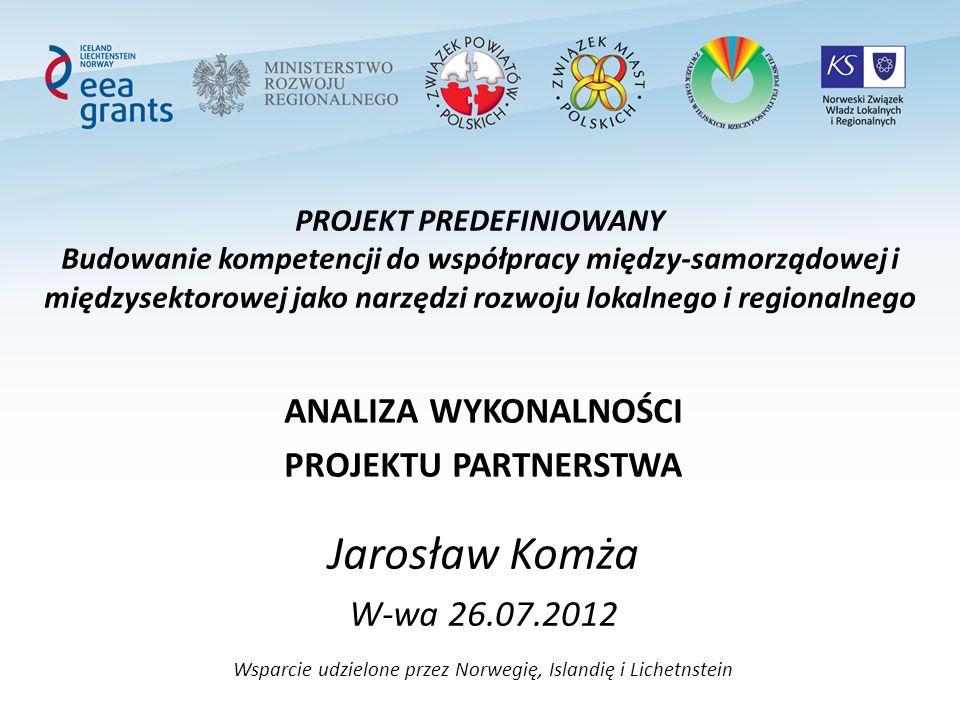 PROJEKT PREDEFINIOWANY Budowanie kompetencji do współpracy między-samorządowej i międzysektorowej jako narzędzi rozwoju lokalnego i regionalnego ANALI