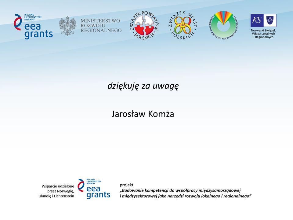 dziękuję za uwagę Jarosław Komża