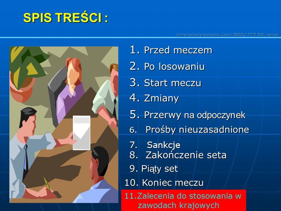 Corrected and presented b y Laszlo HERPAI FIVB RGC member SPIS TREŚCI : 1.