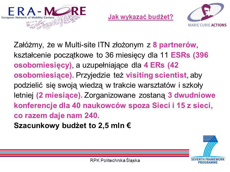 RPK Politechnika Śląska Jak wykazać budżet.