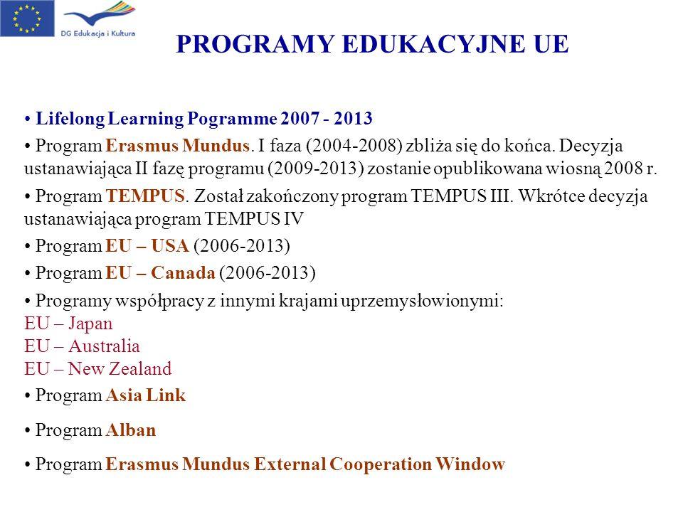 PROGRAM ERASMUS MUNDUS 2004-2008 Akcja 1 – Erasmus Mundus Master Courses.