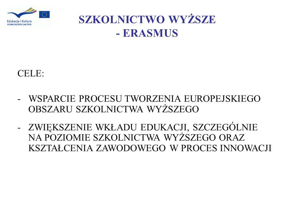 Program TEMPUS IV (2007-2013) Obszary geograficzne objęte programem the European Neighbourhood and Partnership Instrument (ENPI) – planowany budżet 38 mln ; the Instrument for Pre-accession (IPA) - Western Balkans – planowany budżet 19,5 mln ; the Development Co-operation Instrument (DCI) - Central Asia - planowany budżet 5 mln ;