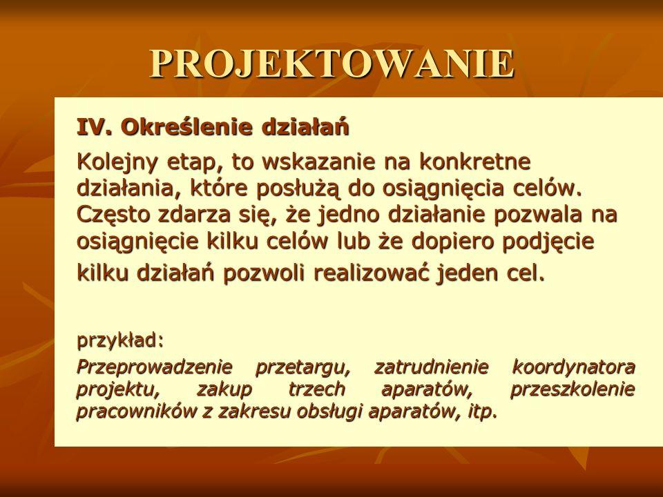 PROJEKTOWANIE IV.