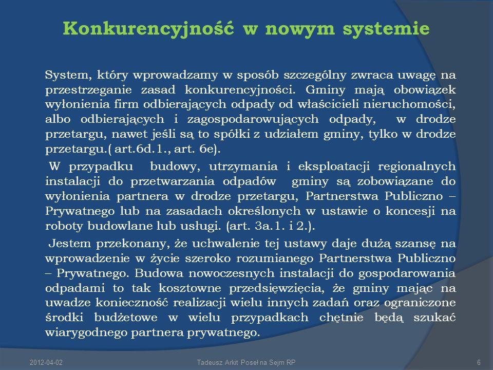 Konkurencyjność w nowym systemie System, który wprowadzamy w sposób szczególny zwraca uwagę na przestrzeganie zasad konkurencyjności.