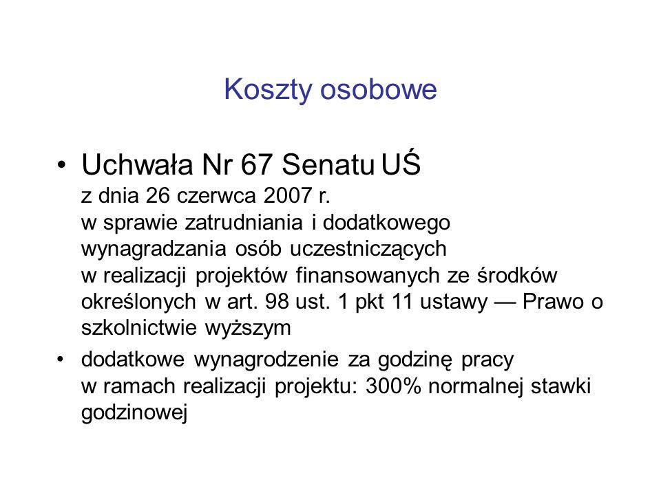 Uchwała Nr 67 Senatu UŚ z dnia 26 czerwca 2007 r.