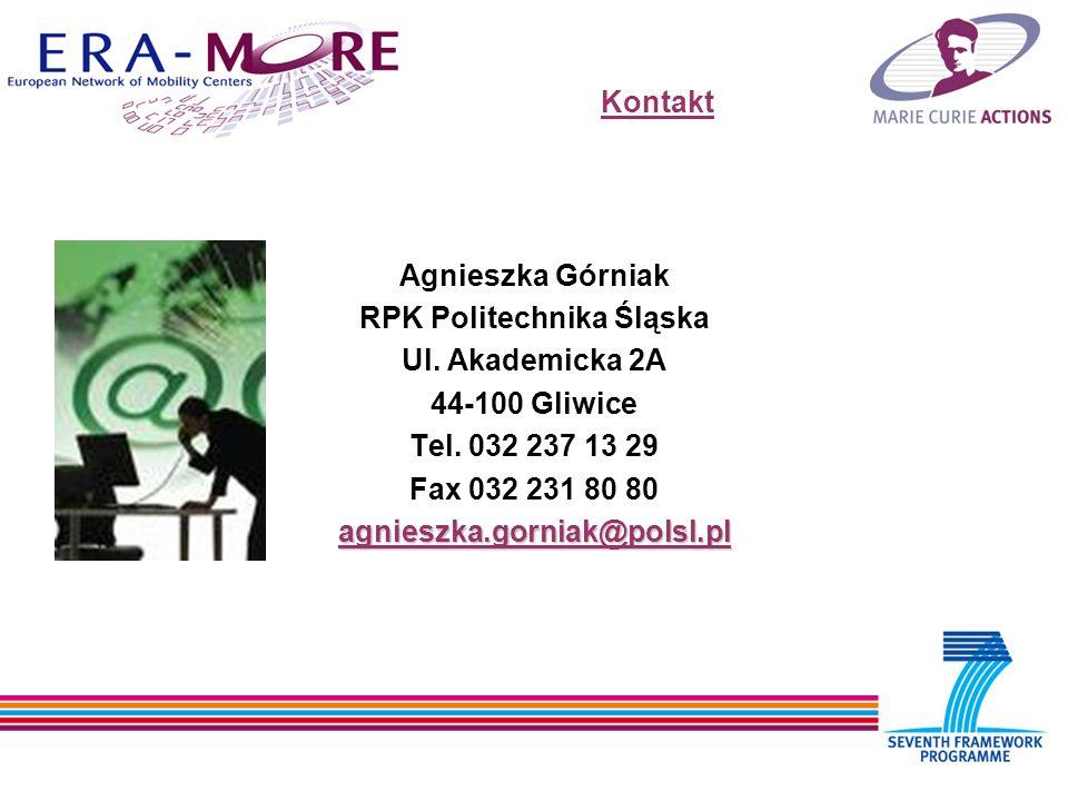 Kontakt Agnieszka Górniak RPK Politechnika Śląska Ul.