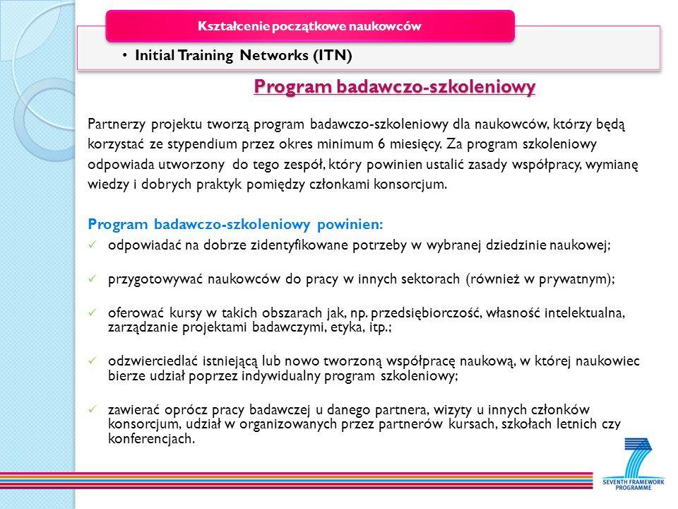 Program badawczo-szkoleniowy Program badawczo-szkoleniowy Partnerzy projektu tworzą program badawczo-szkoleniowy dla naukowców, którzy będą korzystać