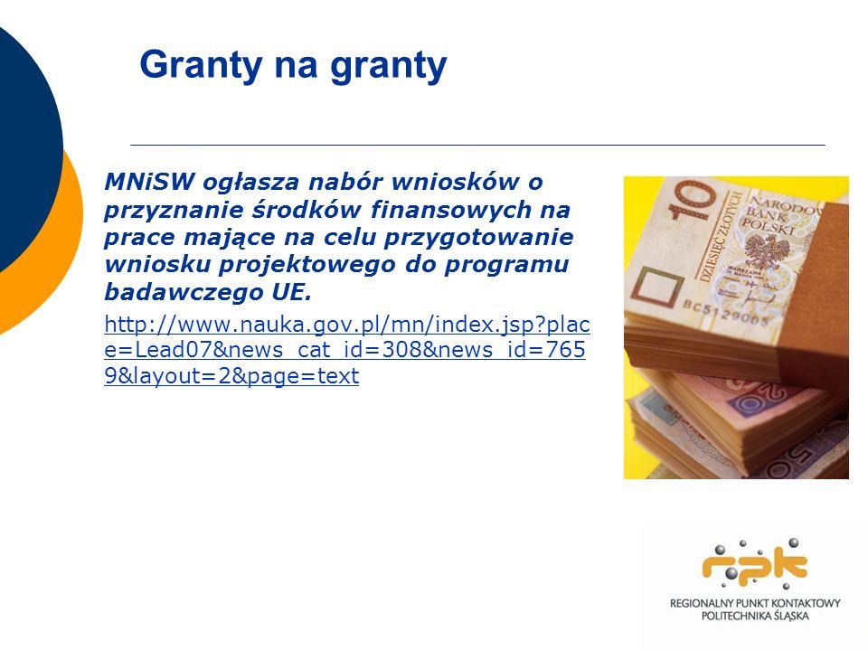 Granty na granty MNiSW ogłasza nabór wniosków o przyznanie środków finansowych na prace mające na celu przygotowanie wniosku projektowego do programu badawczego UE.
