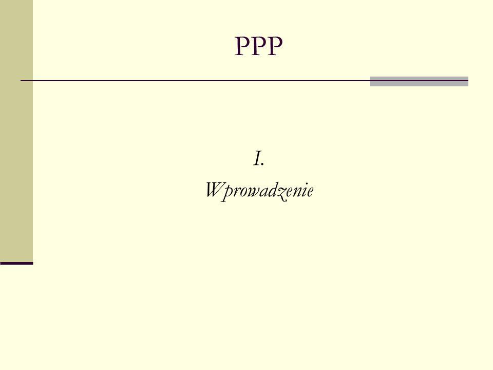 PPP Głównym celem wprowadzenia ustawy o partnerstwie publiczno-prywatnym do polskiego porządku prawnego miało być pobudzenie inwestycji sektora publicznego przez stworzenie optymalnych ram prawnych dla przedsięwzięć publicznych z udziałem partnerów prywatnych oraz usunięcie przeszkód, które w systemie prawnym powodowały, że przedsięwzięcia PPP były obarczone dużym ryzykiem dla obydwu stron.