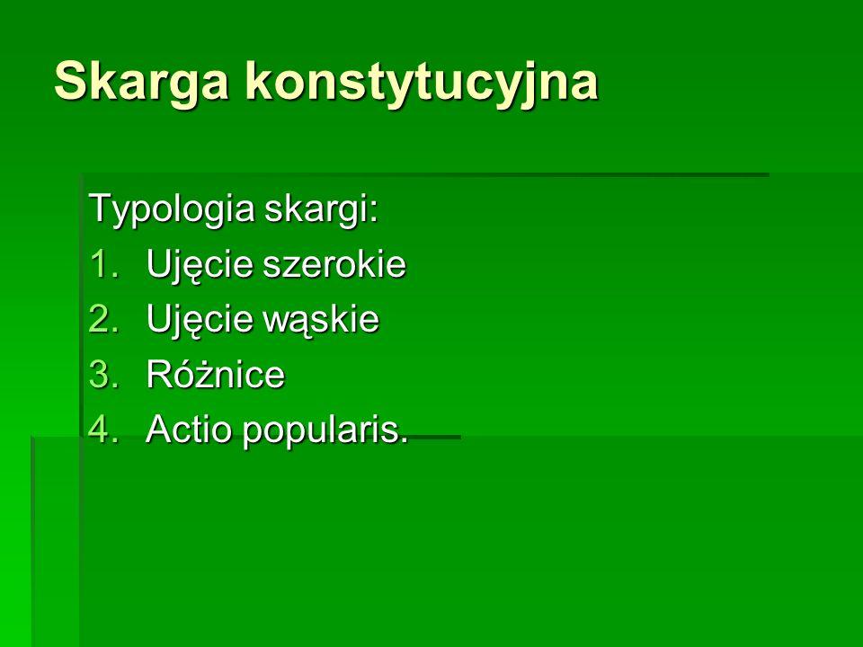 Skarga konstytucyjna w Polsce 1.incydentalny charakter; 1.