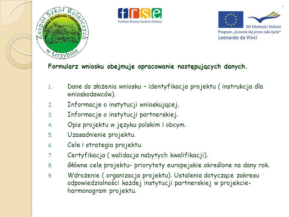 10.Informacje dotyczące wyboru uczestników stażu – kryteria wyboru.
