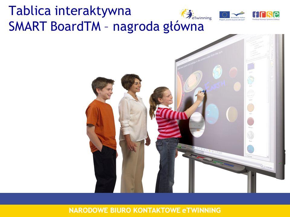 NARODOWE BIURO KONTAKTOWE eTWINNING Tablica interaktywna SMART BoardTM – nagroda główna