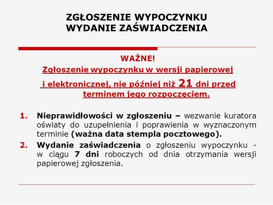 PUBLICZNA BAZA WYPOCZYNKU Na stronie internetowej MEN zamieszczona została publiczna baza danych wypoczynku, która zawiera informacje o numerach wydanych zaświadczeń, danych organizatora wypoczynku, liczbie uczestników wypoczynku oraz jego terminie i lokalizacji.