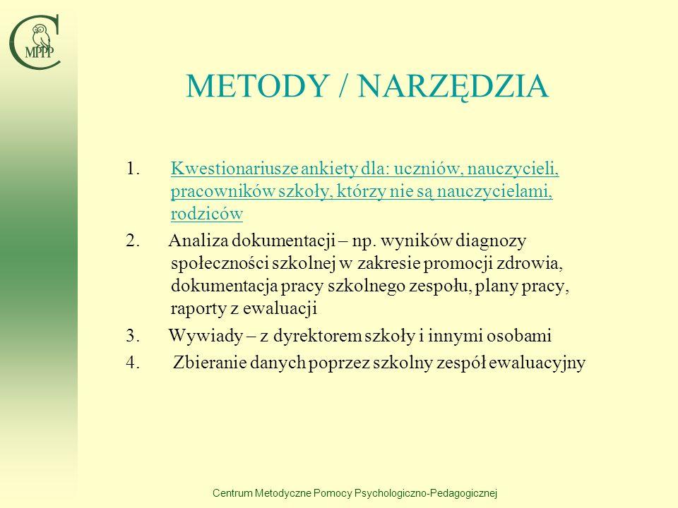 Centrum Metodyczne Pomocy Psychologiczno-Pedagogicznej ELEMENTY OPISU STANDARDU Uzasadnienie wyboru standardu Omówienie podstawowych pojęć zawartych w