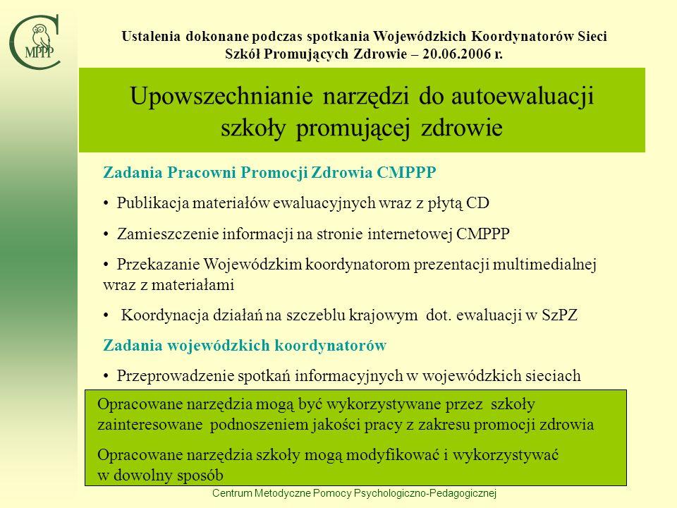 Centrum Metodyczne Pomocy Psychologiczno-Pedagogicznej Przykład graficznej prezentacji wyników badań