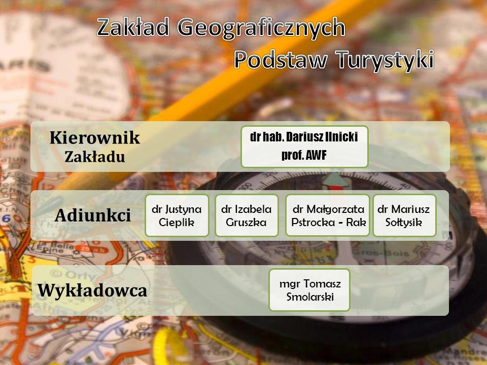 Asystent Starszy wykładowca Kierownik Zakładu prof.