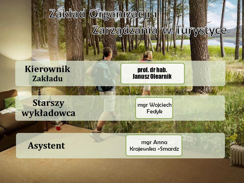 Asystent Starszy wykładowca Kierownik Zakładu prof. dr hab. Janusz Olearnik mgr Anna Krajewska -Smardz mgr Wojciech Fedyk