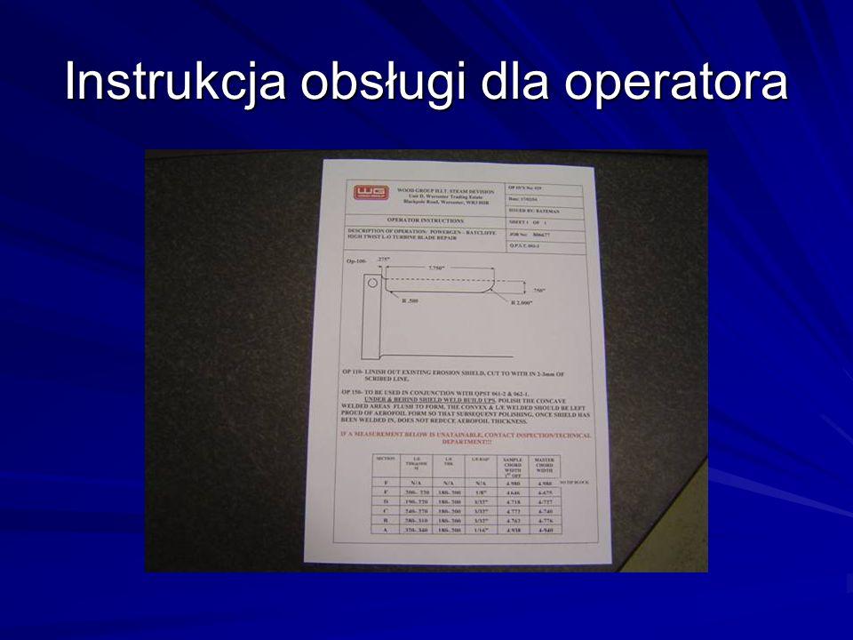 Instrukcja obsługi dla operatora