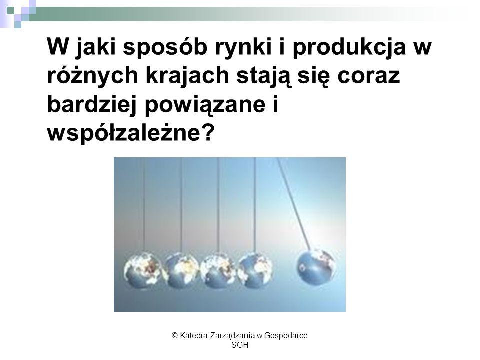 Kto korzysta a kto traci w wyniku procesów globalizacji.