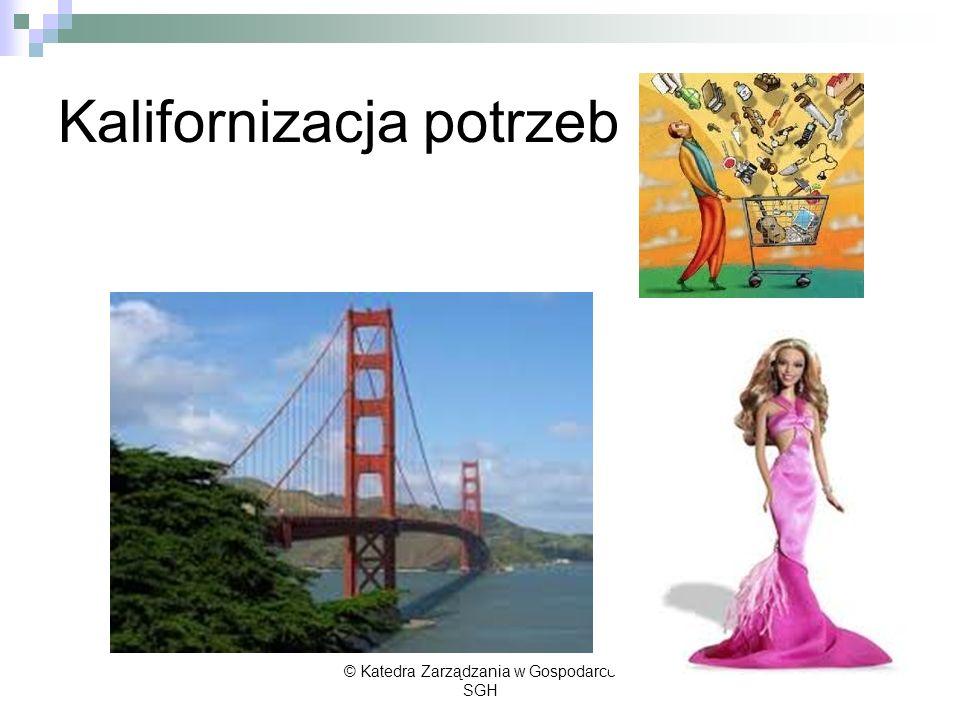 Kalifornizacja potrzeb © Katedra Zarządzania w Gospodarce SGH
