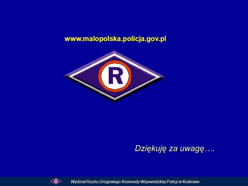 Dziękuję za uwagę…. www.malopolska.policja.gov.pl Wydział Ruchu Drogowego Komendy Wojewódzkiej Policji w Krakowie