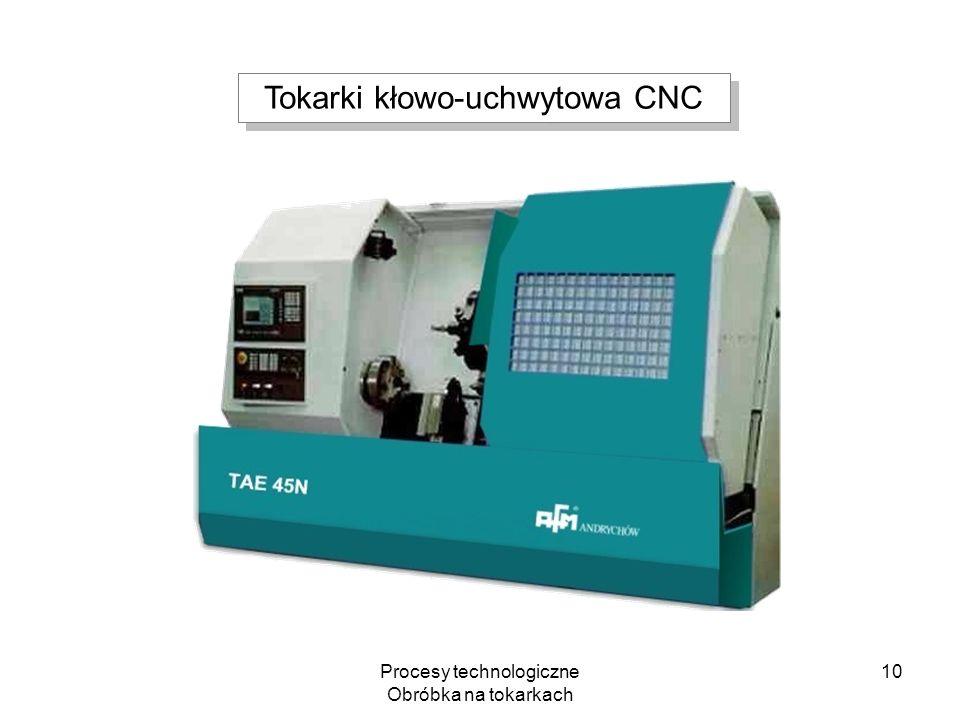 Procesy technologiczne Obróbka na tokarkach 10 Tokarki kłowo-uchwytowa CNC