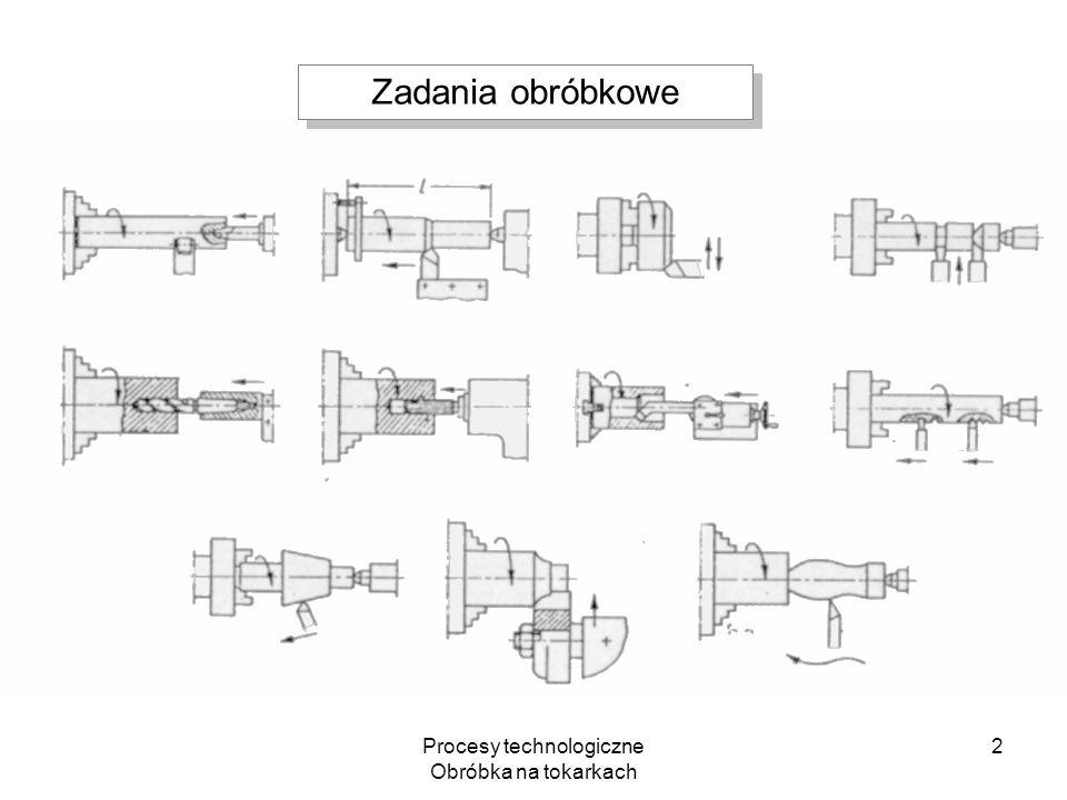 Procesy technologiczne Obróbka na tokarkach 2 Zadania obróbkowe