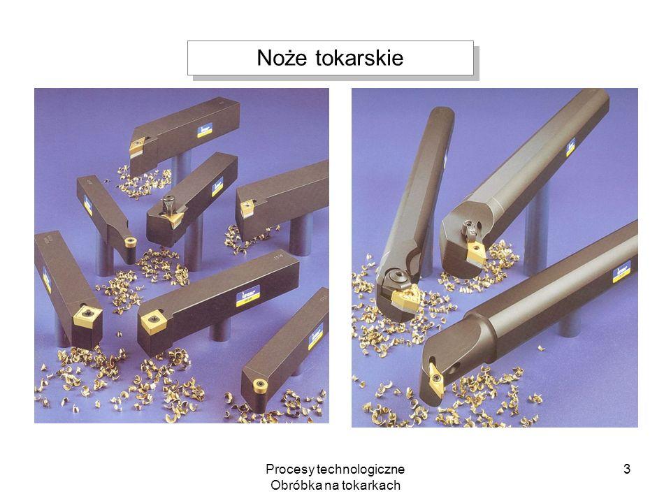 Procesy technologiczne Obróbka na tokarkach 3 Noże tokarskie
