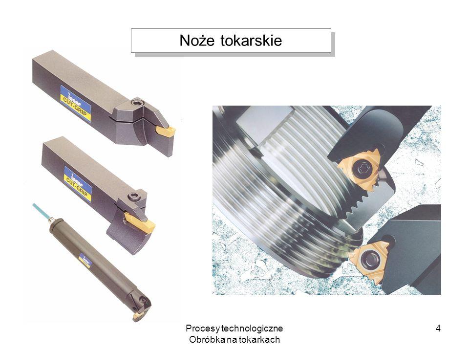 Procesy technologiczne Obróbka na tokarkach 4 Noże tokarskie