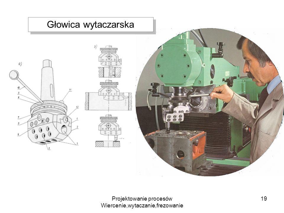 Projektowanie procesów Wiercenie,wytaczanie,frezowanie 19 Głowica wytaczarska
