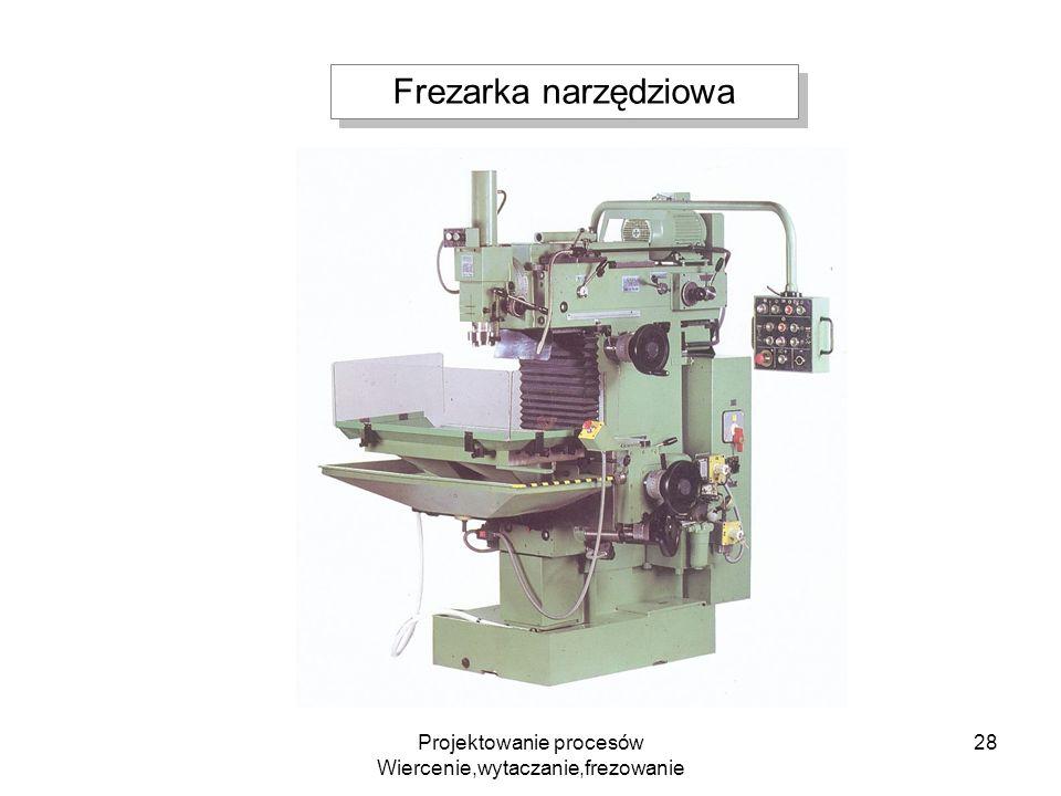Projektowanie procesów Wiercenie,wytaczanie,frezowanie 28 Frezarka narzędziowa