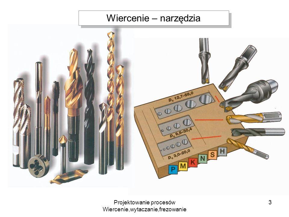 Projektowanie procesów Wiercenie,wytaczanie,frezowanie 24 Frez kulisty – obróbka powierzchni krzywoliniowych