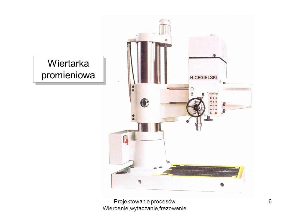 Projektowanie procesów Wiercenie,wytaczanie,frezowanie 6 Wiertarka promieniowa