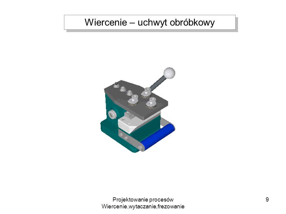 Projektowanie procesów Wiercenie,wytaczanie,frezowanie 10 Wiertła stosowane na obrabiarkach CNC Gwintowanie