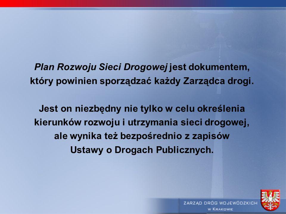 Plan Rozwoju Sieci Drogowej jest dokumentem, który powinien sporządzać każdy Zarządca drogi. Jest on niezbędny nie tylko w celu określenia kierunków r
