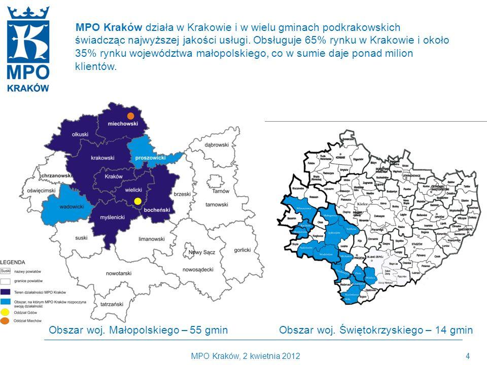 MPO Kraków, 2 kwietnia 20124 Kilka słów o MPO Kraków MPO Kraków działa w Krakowie i w wielu gminach podkrakowskich świadcząc najwyższej jakości usługi.
