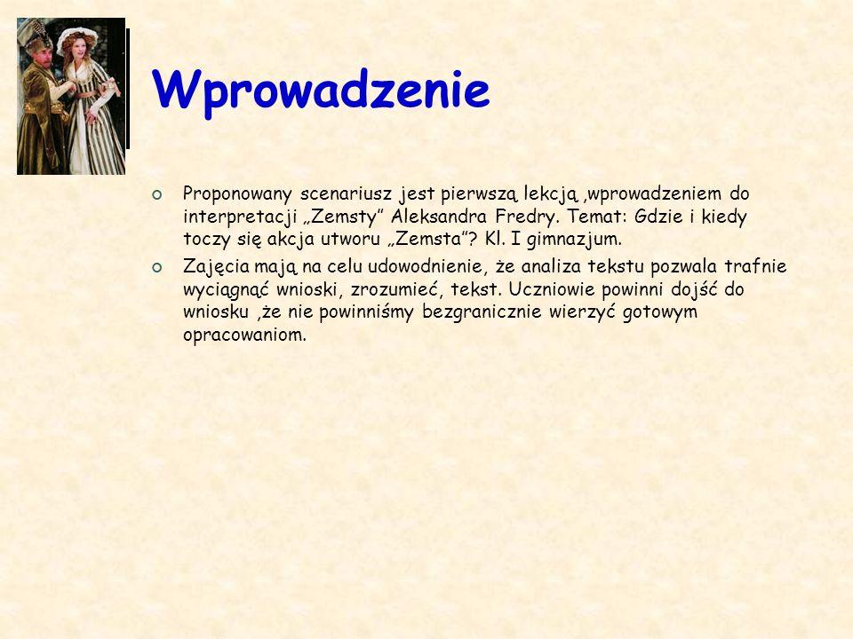 Spis dokumentów Podstawa programowa: -omawianie związku treści dzieła z okolicznościami jego powstania i biografią autora.
