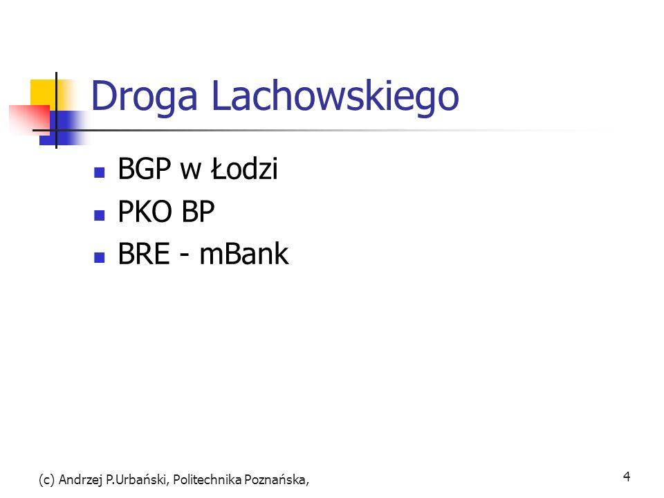 Droga Lachowskiego BGP w Łodzi PKO BP BRE - mBank (c) Andrzej P.Urbański, Politechnika Poznańska, 4