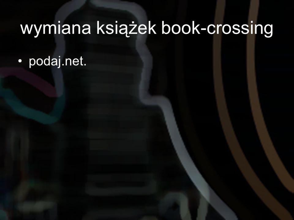 wymiana książek book-crossing podaj.net.