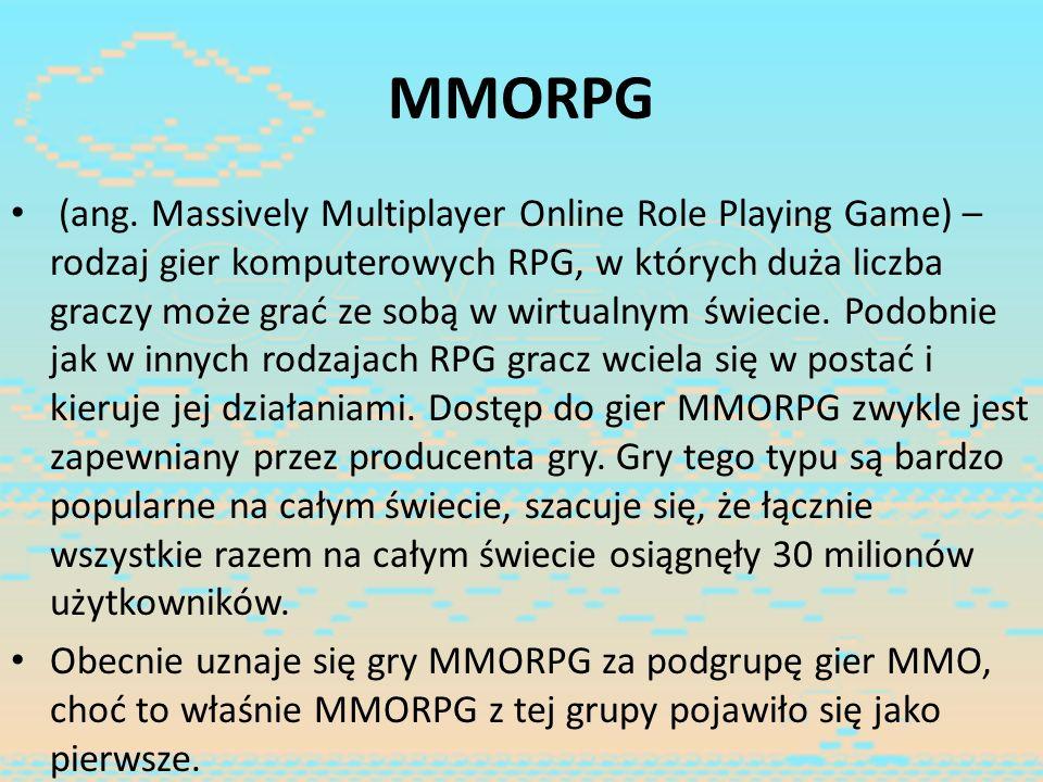 MMORPG (ang. Massively Multiplayer Online Role Playing Game) – rodzaj gier komputerowych RPG, w których duża liczba graczy może grać ze sobą w wirtual